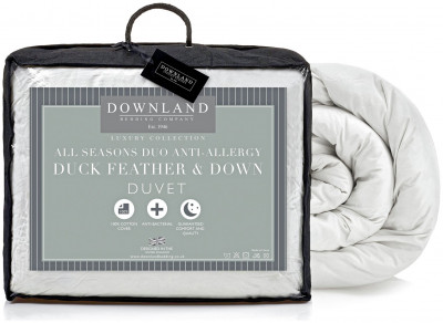 Save £29 at Argos on Downland Duck Feather Down All Seasons 15 Tog Duvet S.King