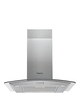 Save £20 at Very on Hotpoint Phgc6.4Flmx 60Cm Curved Glass Cooker Hood - Stainless Steel