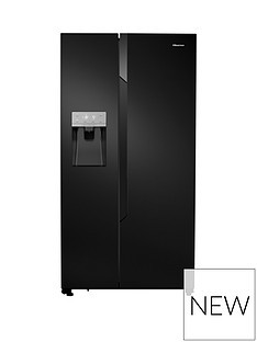 Save £130 at Very on Hisense Non Plumbed. Total No Frost American Fridge Freezer Black with Water & Ice Dispenser