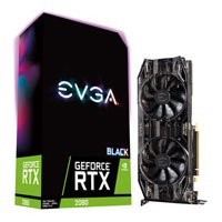 Save £97 at Scan on EVGA GeForce RTX 2080 BLACK EDITION GAMING 8GB GDDR6 Ray-Tracing Graphics Card, 2944 Core, 1515MHz GPU, 1710MHz Boost