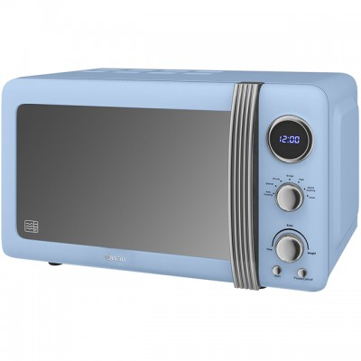 Save £9 at AO on Swan Retro SM22030BLN 20 Litre Microwave - Blue