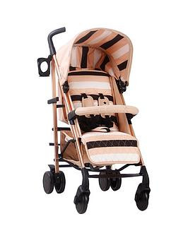 Save £25 at Very on My Babiie Am To Pm Mb51 Blush Stripes Rose Gold Stroller