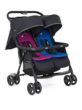 Save £31 at Very on Joie Aire Twin Stroller - Rosy/Sea