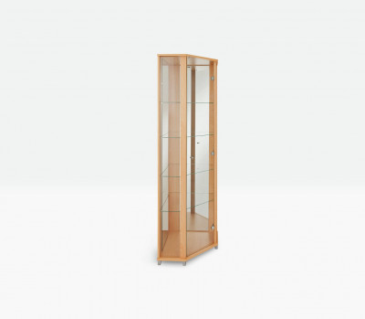 Save £70 at Argos on Argos Home 1 Glass Dr Corner Display Cabinet - Beech Effect