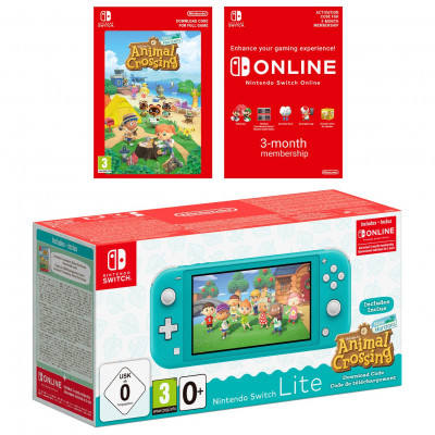 Save £30 at Argos on Nintendo Switch Lite Animal Crossing Console - Turquoise