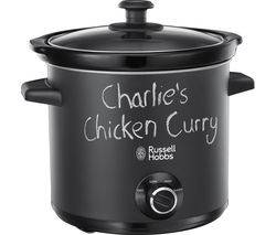 Save £3 at Currys on RUSSELL HOBBS Chalk Board 24180 Slow Cooker - Black