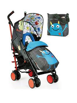 Save £80 at Very on Cosatto Supa 2 Stroller, Change Bag And Footmuff Bundle - Monster Mob