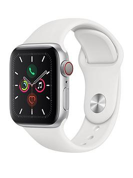 Save £150 at Very on Apple Watch Series 5 (Gps + Cellular), 40Mm Silver Aluminium Case With White Sport Band