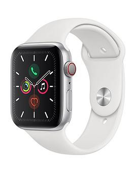 Save £180 at Very on Apple Watch Series 5 (Gps + Cellular), 44Mm Silver Aluminium Case With White Sport Band