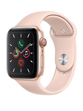Save £180 at Very on Apple Watch Series 5 (Gps + Cellular), 44Mm Gold Aluminium Case With Pink Sand Sport Band