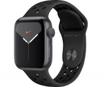 Save £83 at Ebuyer on Apple Watch Series 5 GPS Space Grey with Anthracite  Black Nike Sports Band