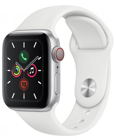 Save £180 at Argos on Apple Watch S5 Cellular 40mm Silver Alu/ White Band