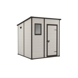 Save £50 at Argos on Keter Manor Pent Garden Storage Shed 6 x 6ft – Beige/Brown