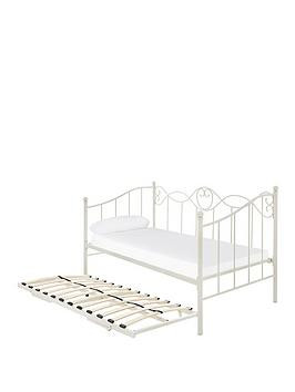 Save £50 at Very on Juliette Day Bed With Trundle - Bed Frame With Airsprung Luxury Mattress