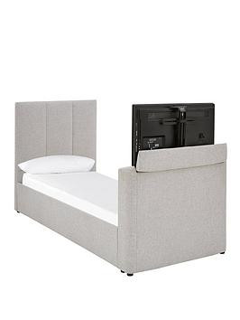Save £50 at Very on Parker Fabric Manual Tv Bed - Fits Up To 32 Inch Tv - Bed Frame With Premium Mattress