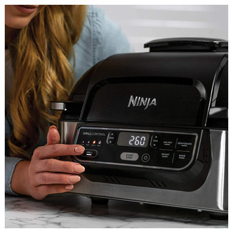 Save £20 at Sonic Direct on Ninja AG301UK Foodi Health Grill Air Fryer Black Stainless Steel
