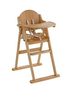 Save £10 at Very on East Coast Wooden Folding Highchair - Natural