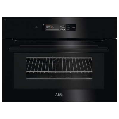 Save £100 at Appliance City on AEG KMK868000B 60cm Built In Combi Microwave For Tall Housing - BLACK