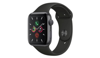 Save £100 at Argos on Apple Watch S5 GPS 44mm Space Grey Alu/Black Band