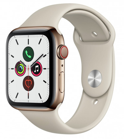 Save £150 at Argos on Apple Watch S5 Cellular 44mm Gold S Steel / Stone Band
