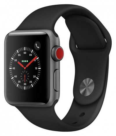 Save £30 at Argos on Apple Watch S3 2018 Cellular 38mm - S Grey/ Black Sport Band