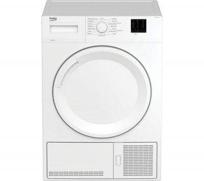 Save £40 at Currys on BEKO DTKCE80021W 8 kg Condenser Tumble Dryer - White, White