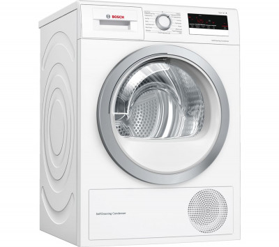 Save £141 at Currys on BOSCH Serie 4 WTW85231GB 8 kg Condenser Tumble Dryer - White, White