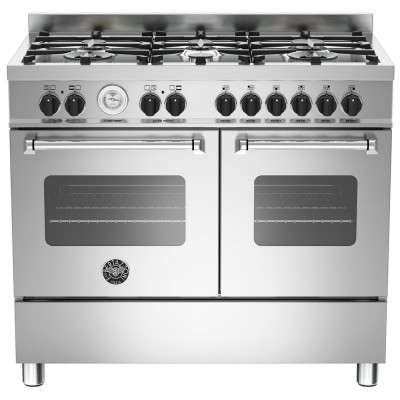 Save £249 at Appliance City on Bertazzoni MAS100-6-MFE-D-XE 100cm Master Dual Fuel Range Cooker - STAINLESS STEEL