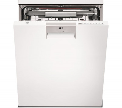 Save £271 at Currys on AEG ComfortLift FFE63806PW Full-size Dishwasher - White, White