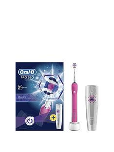 Save £3975 at Very on Oral-B Oral-B Pro 680 Pink 3DWhite Electric Toothbrush with Travel Case- Limited Edition
