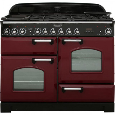 Save £276 at AO on Rangemaster Classic Deluxe CDL110DFFCY/C 110cm Dual Fuel Range Cooker - Cranberry / Chrome - A/A Rated