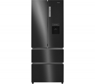 Save £160 at Currys on HAIER Slim American Style Fridge Freezer HB16WSNAA- Black Stainless Steel, Stainless Steel