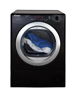 Save £30 at Very on Candy Grand'O Vita Gvs C9Dcgb 9Kg Load Condenser Sensor Tumble Dryer With Smart Touch - Black/Chrome