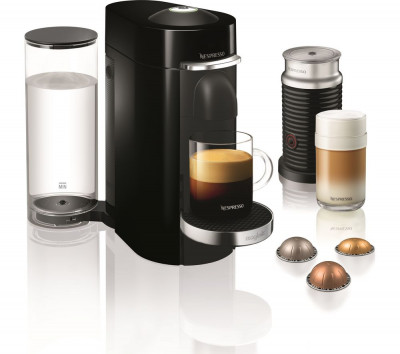 Save £120 at Currys on NESPRESSO by Magimix VertuoPlus Coffee Machine with Aeroccino - Piano Black, Black
