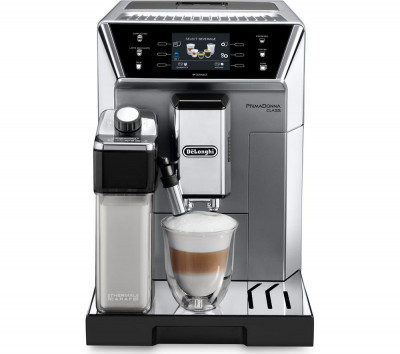 Save £415 at Currys on DELONGHI Prima Donna Class ECAM550.75.MS Smart Bean to Cup Coffee Machine - Silver, Silver
