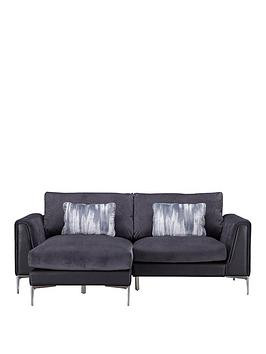 Save £200 at Very on Alder Fabric/Leather Left Hand Chaise Sofa