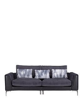 Save £200 at Very on Alder Fabric/Leather 4 Seater Sofa