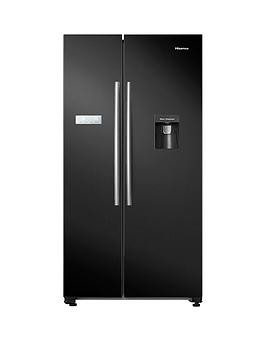 Save £70 at Very on Hisense Rs741N4Wb11 90Cm Wide, Total No Frost, American-Style Fridge Freezer With Non-Plumbed Water Dispenser - Black
