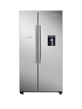 Save £70 at Very on Hisense Rs741N4Wc11 90Cm Wide, Total No Frost American-Style Fridge Freezer With Non-Plumbed Water Dispenser - Stainless Steel