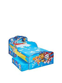 Save £26 at Very on Paw Patrol Toddler Bed With Storage Drawers By Hellohome