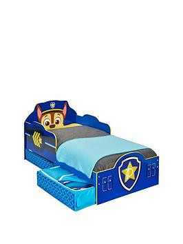Save £26 at Very on Paw Patrol Chase Toddler Bed With Storage By Hellohome