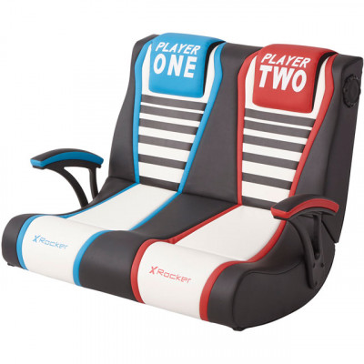 Save £19 at AO on X Rocker Dual Rivals 2.1 Double Wide Gaming Chair - Black / White