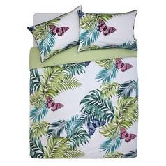 Save £8 at Argos on Argos Home Palmhouse Leaf Butterfly Bedding Set - Double