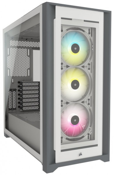 Save £26 at Ebuyer on CORSAIR iCUE 5000X RGB Tempered Glass Mid-Tower ATX PC Smart Case, White