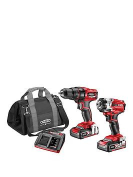 Save £21 at Very on Ozito Ozito By Einhell Cordless 2 X Drill Set (Drill & Impact + 2 Batteries)