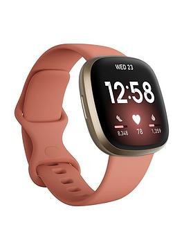 Save £21 at Very on Fitbit Versa 3 - Pink Clay/Soft Gold