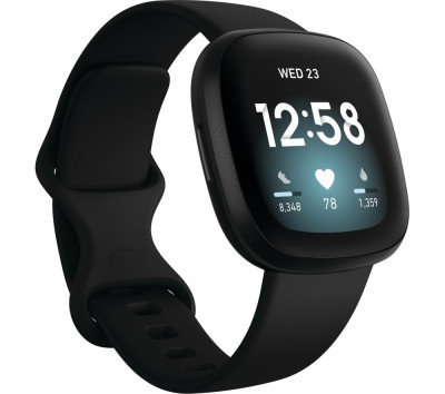 Save £30 at Currys on FITBIT Versa 3 - Black, Black