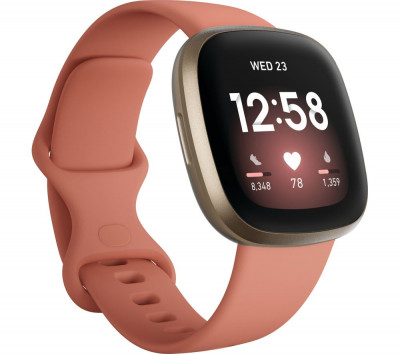 Save £30 at Currys on FITBIT Versa 3 - Pink Clay & Soft Gold, Pink