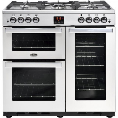 Save £120 at AO on Belling Cookcentre90GProf 90cm Gas Range Cooker with Electric Fan Oven - Stainless Steel - B/A Rated