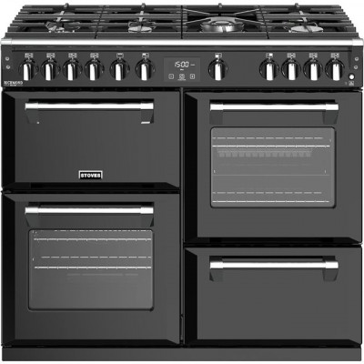 Save £220 at AO on Stoves Richmond Deluxe S1000G 100cm Gas Range Cooker with Electric Grill - Black - A+/A/A Rated